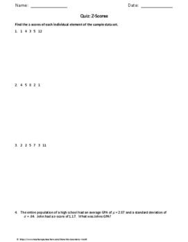 Statistics Quiz: Z Scores
