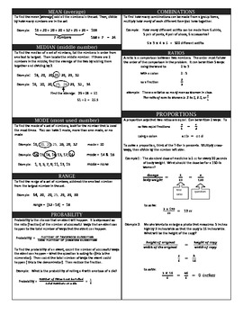 Statistics, Ratio & Proportions Review