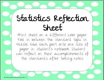 Statistics Reflection sheet