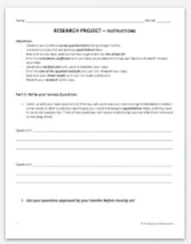 Statistics Research Project