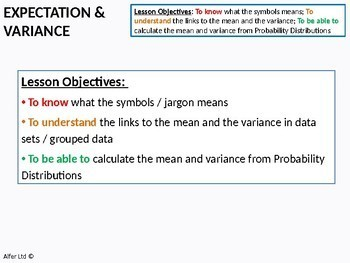 Statistics: (S1) Expectation and Variance of Random Variables