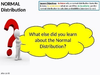 Statistics: (S1) Normal Distribution 2 - Non / Not Standard (+ Worksheet)