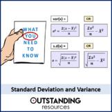 Variance and Standard Deviation (2 worksheets)