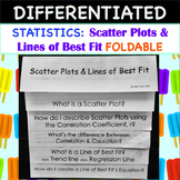 Statistics:Scatter Plots and Lines of Best Fit FOLDABLE