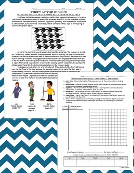 Statistics:Scatter Plots and Lines of Best Fit MYSTERY ACTIVITY