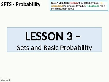 Statistics: Sets 3 - Probability (perfect for KS4 and KS5)