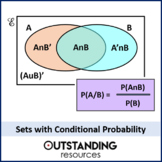 Statistics: Sets 4 - Conditional Probability (Perfect for S1 / KS5) + worksheet