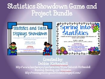 Statistics Showdown Game and Statistics Lab Bundle