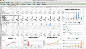Statistics Spreadsheet Activity - Binomial, Geometric, Poisson (2 days)
