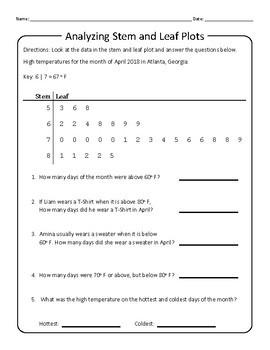 Statistics: Stem and Leaf Plot Practice 2