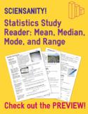 Statistics Study Reader - Measures of Center (Mean, Median, Mode) and Range