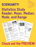 Statistics Study Reader - Measures of Center (Mean, Median, Mode) and Range