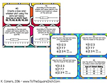 Statistics Task Cards- 6th Grade Math
