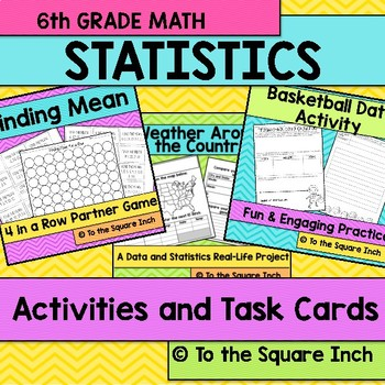 Statistics Task Cards and Activities