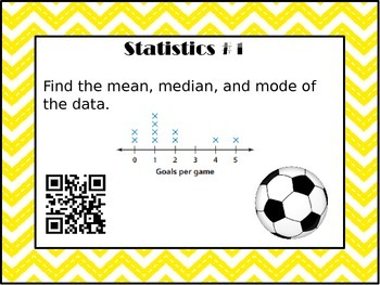 Statistics Task Cards with QR Code Scanners