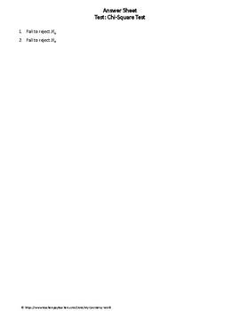 Statistics Test: Chi-Square Test