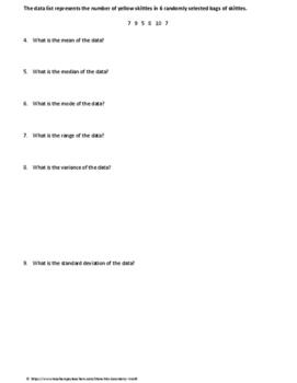 Statistics Test: Descriptive Statistics