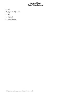 Statistics Test: F-Distributions