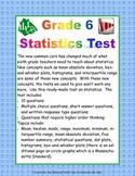 Statistics Test - Grade 6 - Common Core - Assessment