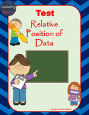 Statistics Test: Relative Position of Data