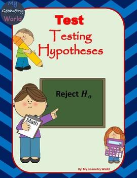 Statistics Test: Testing Hypotheses