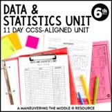 6th Grade Statistics Unit: 6.SP.1, 6.SP.2, 6.SP.3, 6.SP.4, 6.SP.5