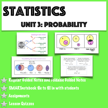 Statistics- Unit 3 Bundled: Probability (Growing Bundle)