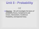 Statistics Unit 5 Bundle - Probability Curriculum (15 days)