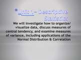 Statistics Unit Plan 1 - Introduction to Statistics