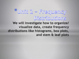 Statistics Unit 2 Bundle - Frequency Distributions Curriculum (6 days)