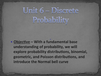 Statistics Unit Plan 5 - Discrete Probability Distributions