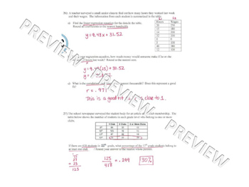 Statistics Unit Review