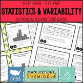6th Grade Math Test Prep Statistics & Variability Task Cards
