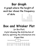 Statistics (Samples and Populations) Vocabulary Cards