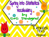Statistics Vocabulary TEKS Aligned