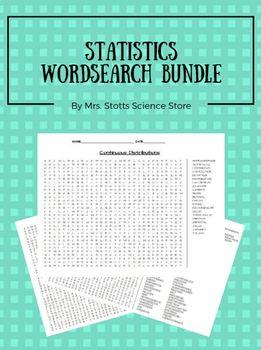 Statistics Word Search Bundle