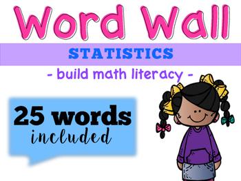 Statistics Word Wall