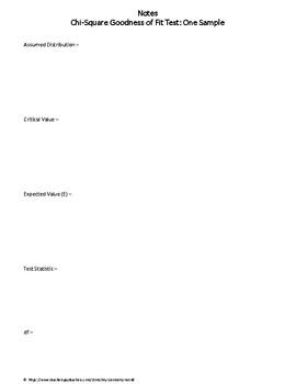 Statistics Worksheet: Chi-Square Goodness of Fit Test: One Sample