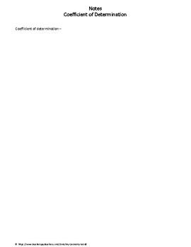 Statistics Worksheet: Correlation of Determination