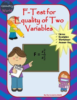 Statistics Worksheet: F-Test for Equality of Two Variables