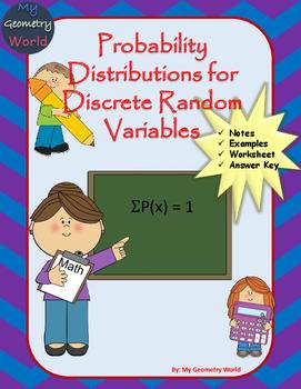Statistics Worksheet: Probability Distributions for Discrete Random Variables
