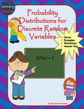 Statistics Worksheet: Probability Distributions for Discrete Random Variables