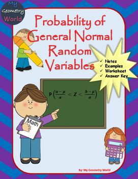Statistics Worksheet: Probability of General Normal Random
