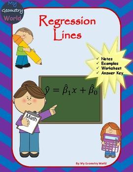 Statistics Worksheet: Regression Lines