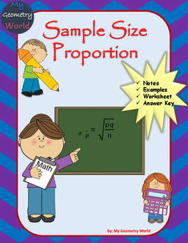 Statistics Worksheet: Sample Size Proportion