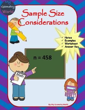 Statistics Worksheet: Sample Sizes