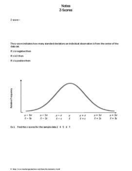 Statistics Worksheet: Z Scores