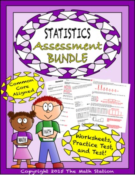 Statistics Worksheets & Test - 6th Grade