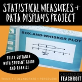 Statistics & Data Display Project for 6th Grade Math PBL (Fully Editable)