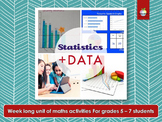 Elementary / Primary Statistics and Data Project - DISTANCE LEARNING